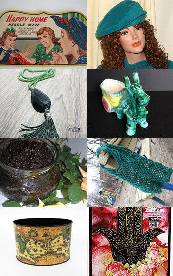 HAPPY HOME IN SHADES OF GREEN..................Gratitude Treasury by Pat Peters on Etsy--Pinned with TreasuryPin.com
