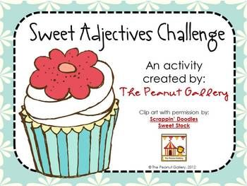 """Students love anything that you call a """"challenge,"""" and this certainly is one! This activity is a great way to practice adjectives, thinking skills, synonyms, vocabulary development, thesaurus usage, etc. Eight different adjective grids are included. Different ways you might use this in your classroom are:1."""