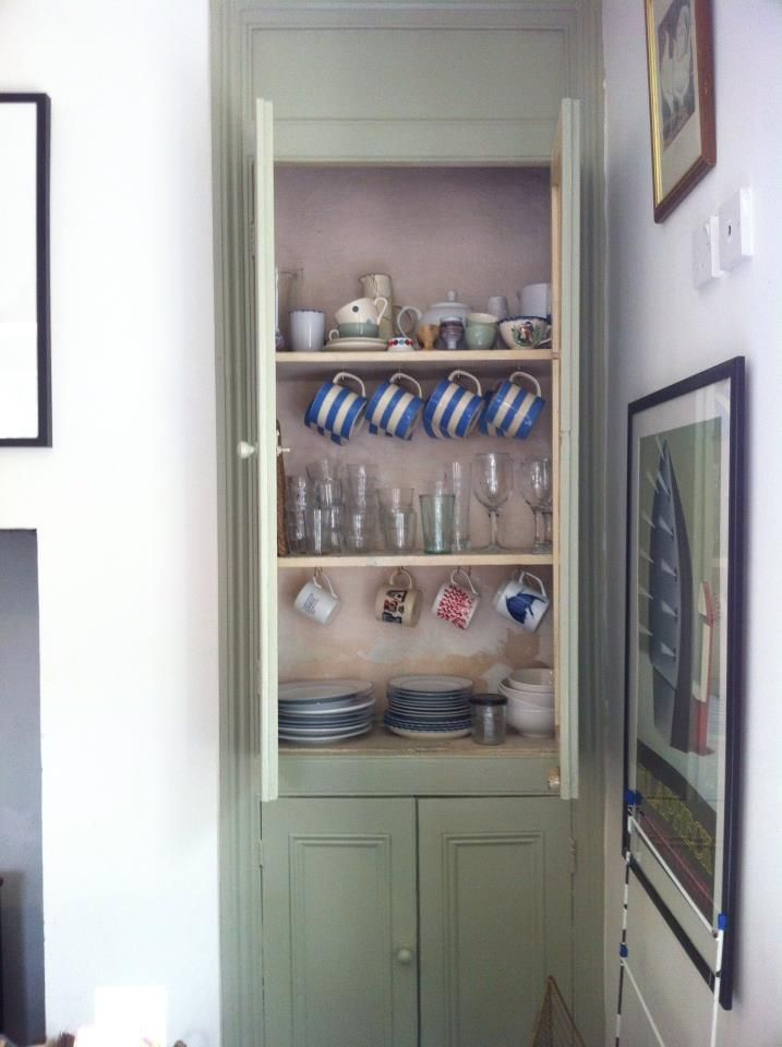 French Grey alcove cupboard