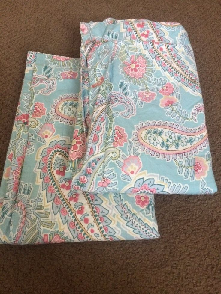 Pottery Barn Bedding Paisley Pink Blue Floral Standard