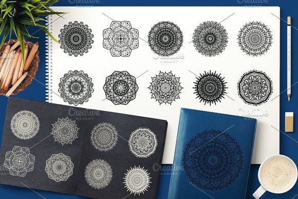 Vector Mandala Collection by barsrsind on @creativemarket