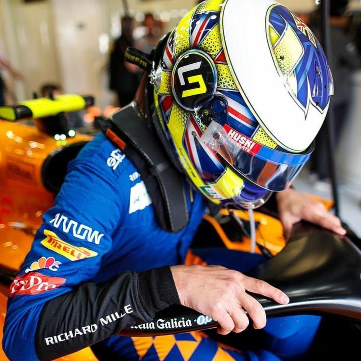Nascar Iphone X Wallpaper: Lando Norris McLaren F1 British GP 2019 Helmet