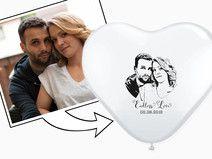 Foto - Herzluftballons Luftballons (50 Stück)