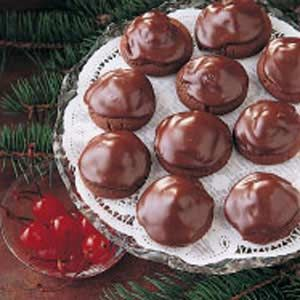 Chocolate-Covered Cherry Cookies - I don't even like chocolate-covered cherries, yet I love these cookies! I make them every year for Christmas.