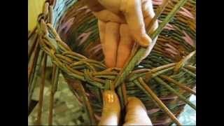 Basket weaving newspaper. How to make the edging. Part 5.2 - YouTube