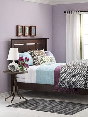 Blue/Lavender/Gray how Tyler & I want to do our bedroom when we move