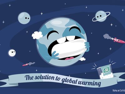 the solution to global warming by vainui de castelbajac