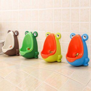Cartoon Frog Potty Training Toddler Size Urinal. Easy to Empty and Clean
