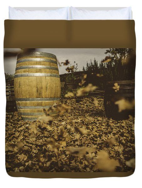 Fall In The Garden Duvet Cover by Cesare Bargiggia