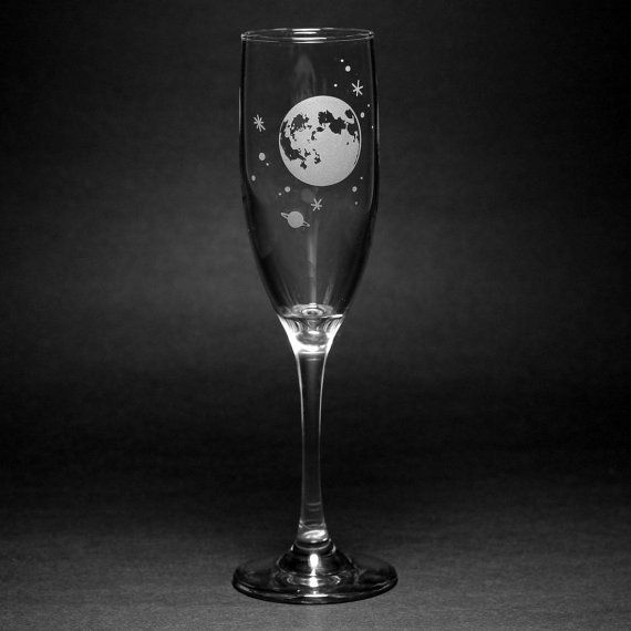 ★ BLACK FRIDAY - CYBER MONDAY SALE!! ★ EXTRA 10% OFF WILL BY APPLIED AUTOMATICALLY NOV 25-28 GET FREE SHIPPING WITH CODE FREESHIP75 ON ORDERS OVER $75  Shoot for the moon! This full moon and stars champagne flute is the perfect gift for the astronomer or star gazer in your life. Having a party and want everyone to easily keep track of their glasses? Get an assortment of designs! This outer space champagne flute is great for fun parties and weddings gifts.  ★ Dishwasher-Safe & Microwave-S...