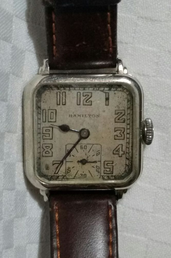 b7655fbe1 Vintage 1941 HAMILTON 14K SOLID WHITE GOLD Men's Wadsworth Wrist Watch ~  Works #Hamilton #Casual