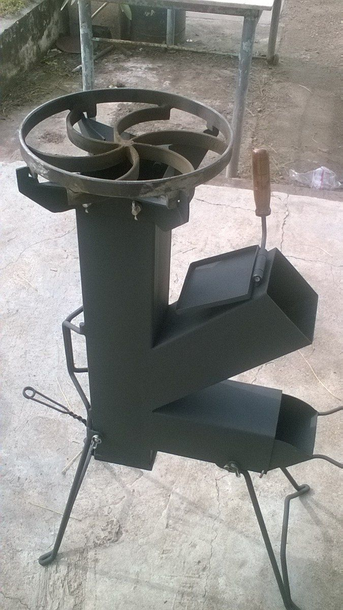 cocina cohete/rocket stove- totalmente desarmable More