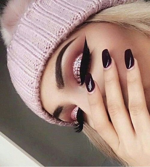 makeup, pink, and nails image