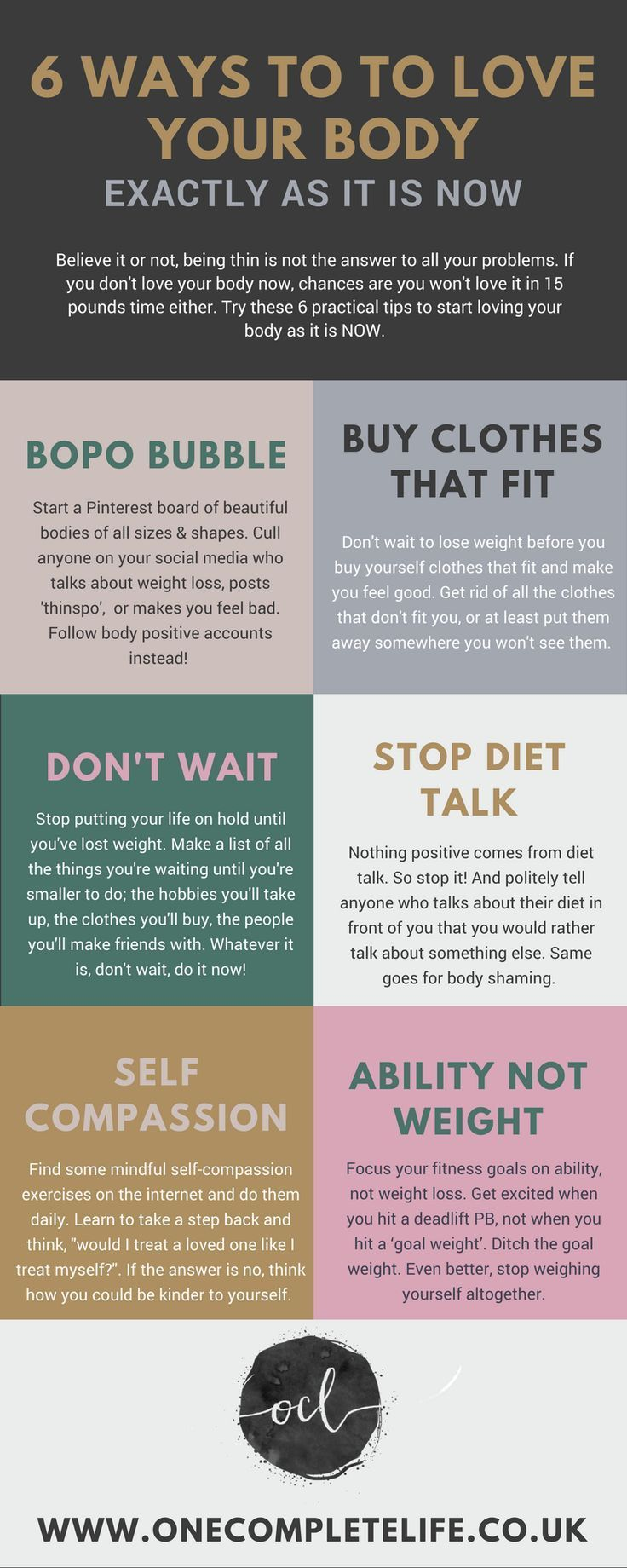 6 practical, body positive tips to start loving your body exactly as it is now - One Complete Life