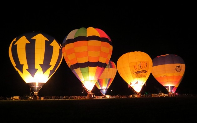 Strathalbyn, South Australia balloon regatta and night glow. Damn cold but worth being there.
