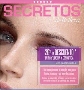 SECRETOS DE BELLEZA en El Corte Inglés. http://www.aplenavida.com/cuerpo/salud-y-belleza/secretos-de-belleza-en-el-corte-ingles/