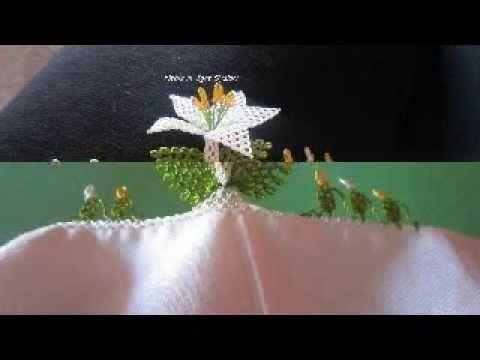 Adım adım iğne oyası kabak çİçeği yapılışı - YouTube