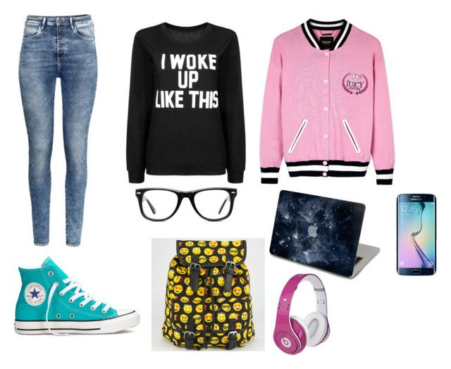 study sesion by dj-eyecandy on Polyvore featuring Juicy Couture, H&M, Converse, Muse and Beats by Dr. Dre