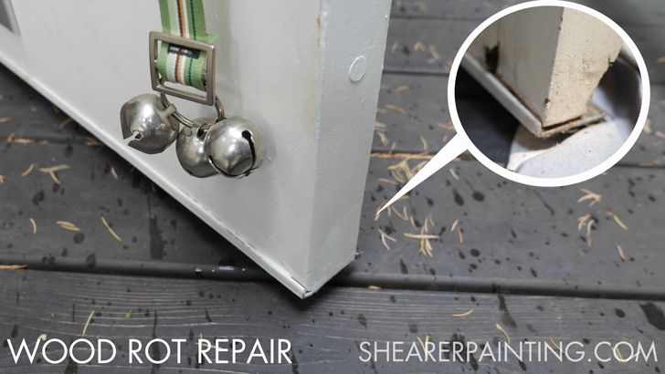 1000 images about shearer painting projects on pinterest - Repairing wood rot on exterior door ...