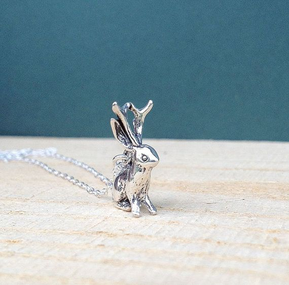 Hey, I found this really awesome Etsy listing at https://www.etsy.com/listing/75029652/sterling-silver-jackalope-necklace