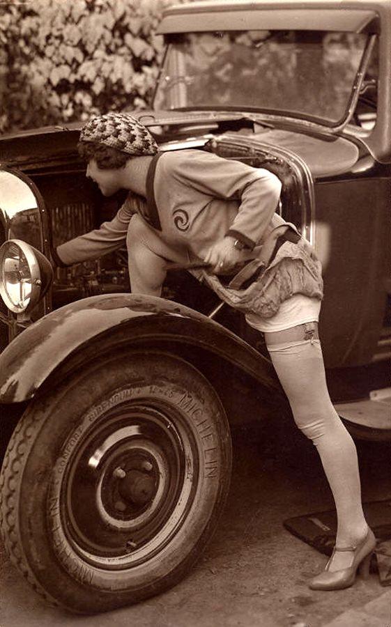 vintage car micheline tire pin up girls pinterest donne