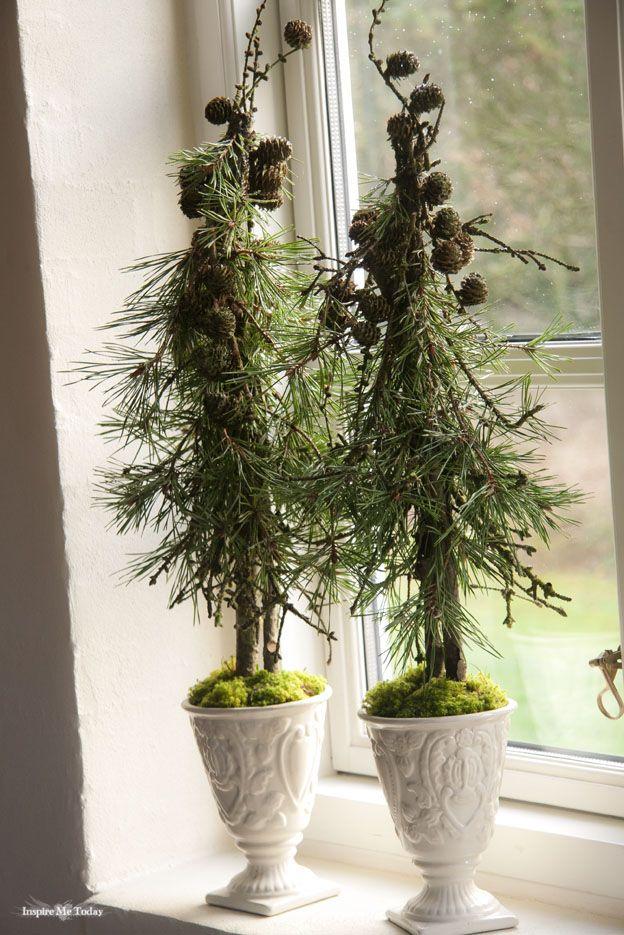 Hjemmelavede pynte-træer