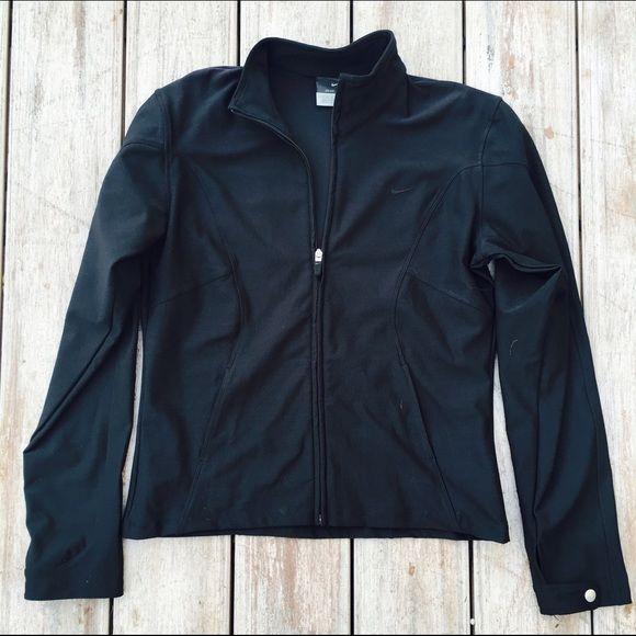 Black Nike Waterproof Jacket Worn once. Great condition. Ships Immediately! Nike Jackets & Coats