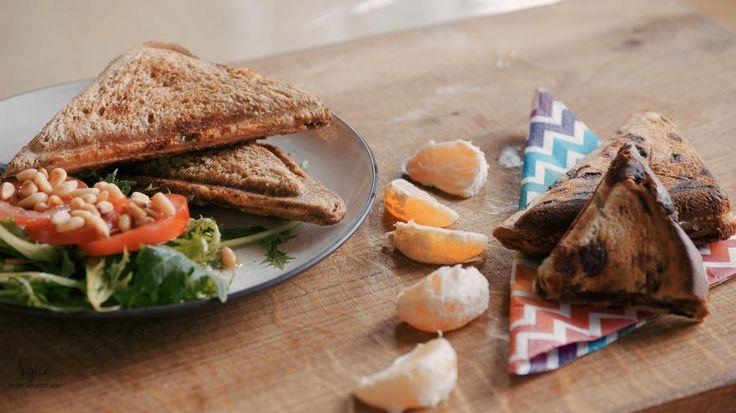 Hartige croque monsieur met kip en pesto of zoete croque met peperkoek en mandarijn | VTM Koken