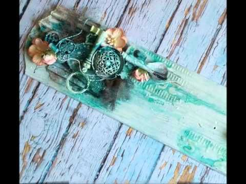 Altered Art, Mixed Media - Hanging Decoration (MakaArt) #4 - YouTube