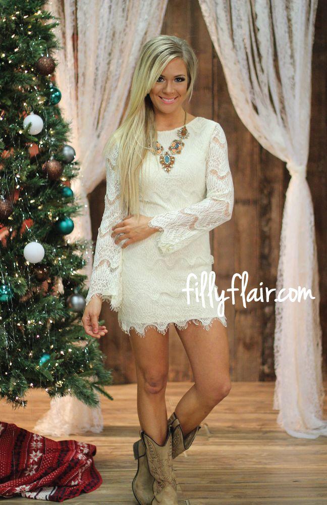Girls western lace dress