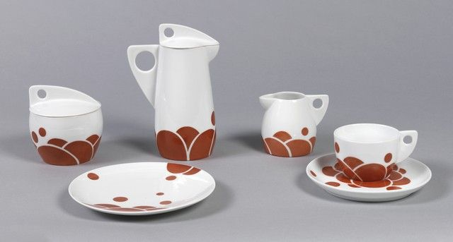 Coffee set. Designed by Jutta Sika, manufactured by Wiener Porzellan Josef Böck, produced by Schule Professor Koloman Moser. Austria, ca. 1902. Museum purchase from Charles E. Sampson Memorial Fund, 1986-83-1/5. - See more at: http://www.cooperhewitt.org/object-of-the-day/2013/09/17/coffee-talk-celebrating-birth-jutta-sika#sthash.qTkvFZEx.dpuf