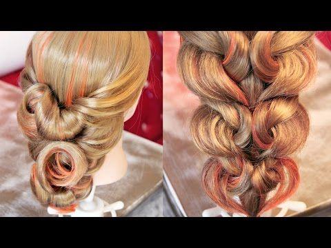 """Причёски и косы - Коллекция - """"Красный диван"""" - Часть 2 - Hairstyles by REM - YouTube"""