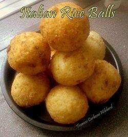 how to make easy italian rice balls