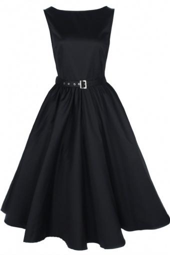Lindy Bop 1950's Audrey Hepburn style rockabilly swing party vintage black evening dress