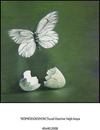 Kelebek,yağlı boya,picture