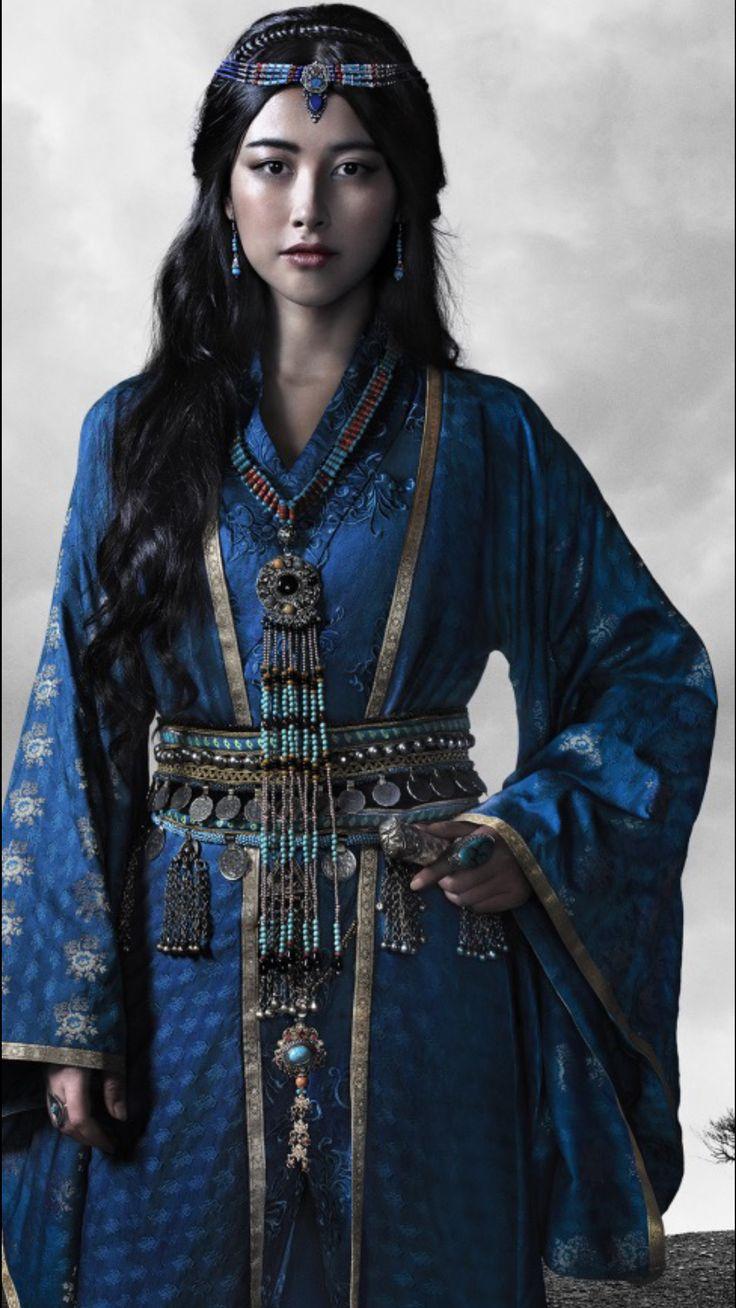Zhu Zhu as Kokochin, the Blue Princess, in the Netflix series, Marco Polo //