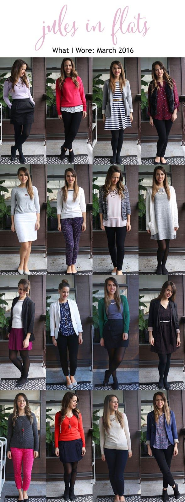 Jules in Flats Monthly Outfit Roundup March 2016