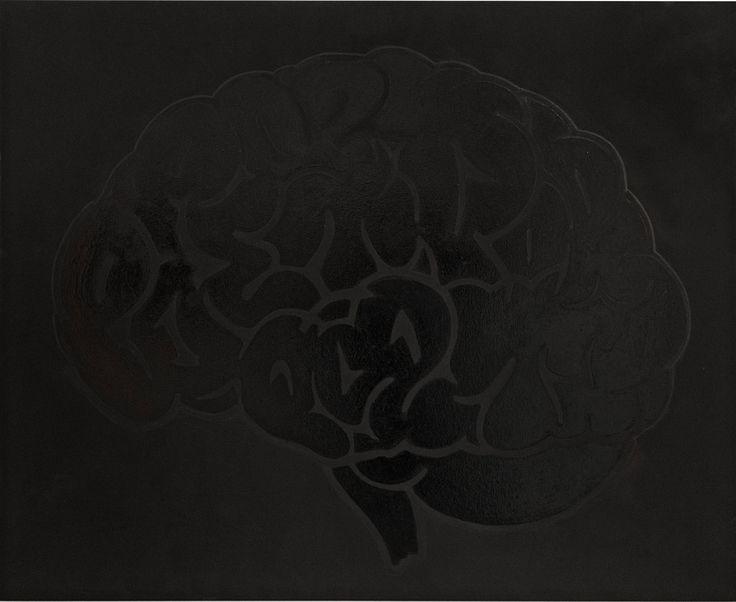 Sneak peek_09 Poet73, Brain Black on Black 2014, Acryl und Lack auf Leinwand Acrylic and varnish on canvas, 100 x 120 cm