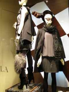 Window shopping for the best fashions in Rome.