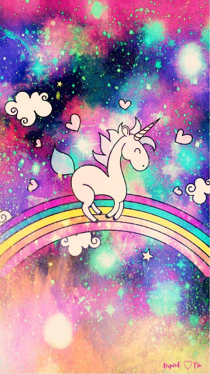 Pink Galaxy Glitter Unicorn Wallpaper Novocom Top