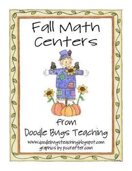 Otoño Centros Matemáticas para el jardín de infantes o imprimación Grado