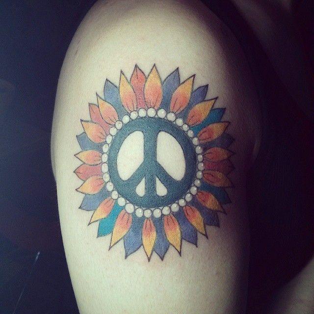 Rasta Colored Peace Sign Tattoos 4106144 Ilug Calfo