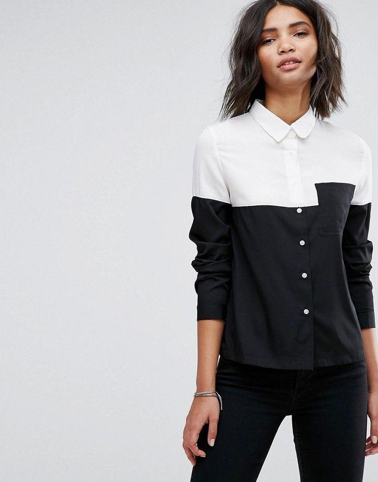 Daisy Street Monochrome Shirt - Black