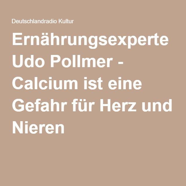 Ernährungsexperte Udo Pollmer - Calcium ist eine Gefahr für Herz und Nieren