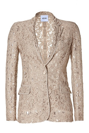 STYLEBOP.com | Beige Lace Blazer by MOSCHINO C | the latest trends from the capitals of the world