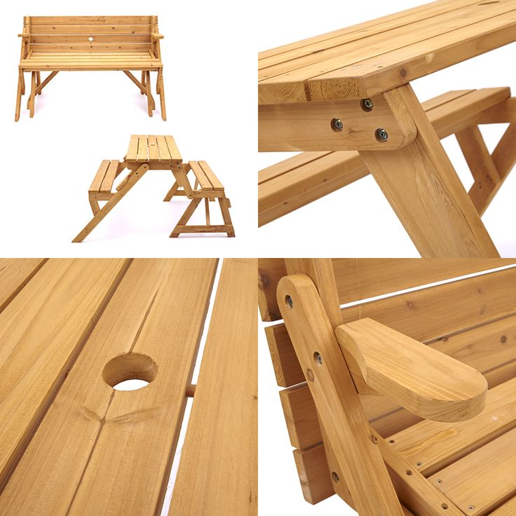 Modbury Garden Bench Which Converts To A Picnic Table And