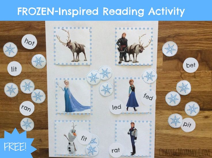 FREE Frozen-Inspired Reading Activity For Early Readers + Printable | Classic Mommy blog