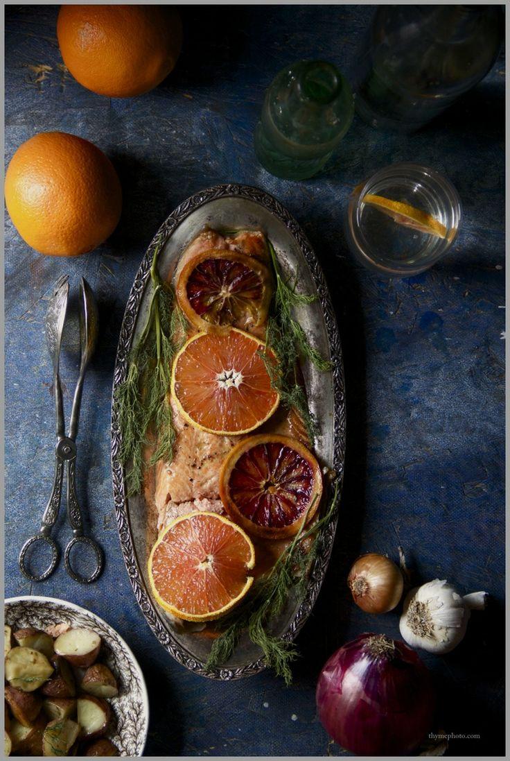 Glazed Salmon with Vodka infused Citrus Sauce