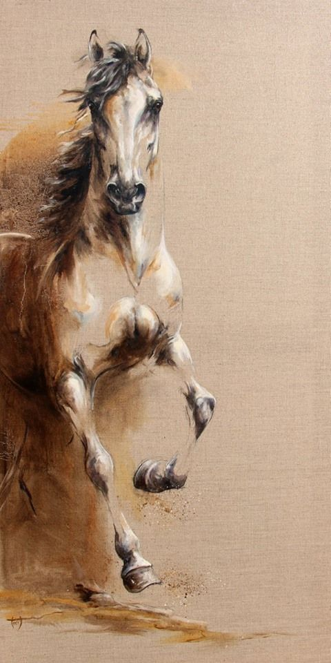 Oil on canvas Copyright L.PLINGUET #OilPaintingHorse