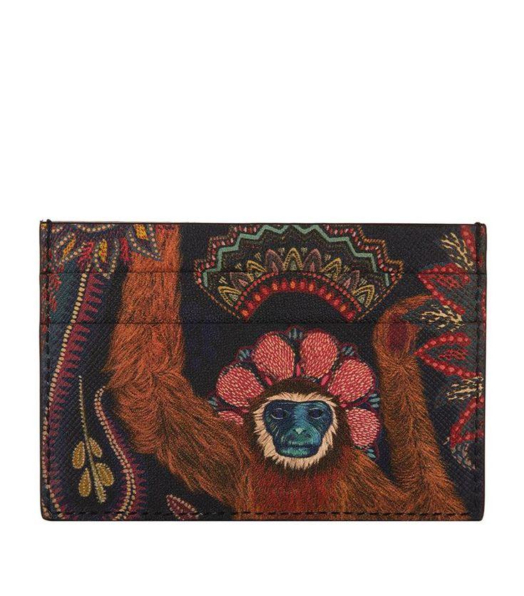 PAUL SMITH Monkey Print Leather Card Holder. #paulsmith #